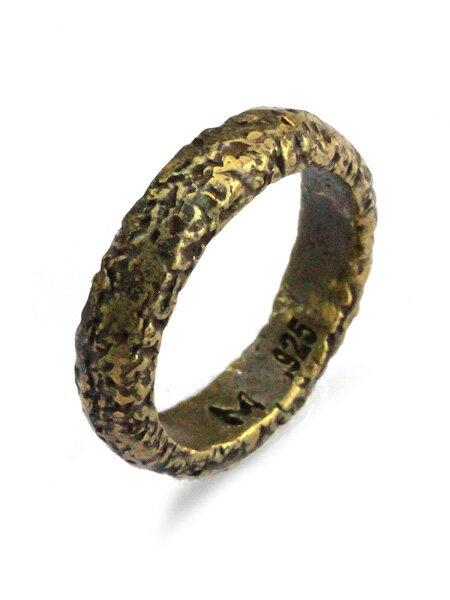 M.Cohen(エム・コーエン)【carved ruff brass ring [R-101023-BRS-BRS] カーブドラフ ブラスリング】[正規品](指輪/アンティークゴールド/ブラス/シンプル/真鍮/金/ギフト/プレゼント/ユニセックス/メンズ/レディース)