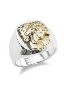 【※ポイント5倍※】PEANUTS&CO.(ピーナッツ&カンパニー)【PHARAOHS HORSES RING OVAL (L / Silver × K10 Gold) / ファラオホースリングオーバル(シルバー × K10ゴールド) 】[正規品](指輪/金/シルバー925/銀/