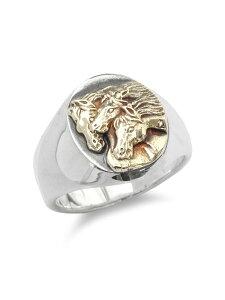 【※ポイント5倍※】PEANUTS&CO.(ピーナッツ&カンパニー)【PHARAOHS HORSES RING OVAL (S / Silver × K10 Gold) / ファラオホースリングオーバル(シルバー × K10ゴールド) 】[正規品](指輪/金/シルバー925/銀/
