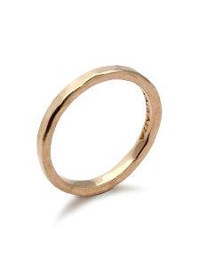 【※ポイント5倍※】TSUNAIHAIYA(ツナイハイヤ)【Loose Ring (Pink Gold) / ルーズ リング (ピンク ゴールド)】[正規品](指輪/細身/シンプル/テクスチャー/重ね付け/ギフト/ペア/プレゼント/ユニセッ