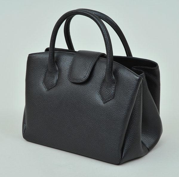 良品工房 日本製手作り 牛革ジャバラ式バッグ B9119-105B