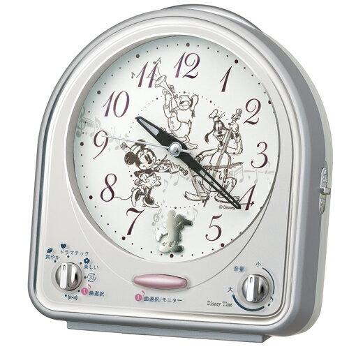 【SEIKO】 【セイコー】 Disney ディズニー ミッキー&フレンズ 31曲メロディ目覚まし時計 FD464S