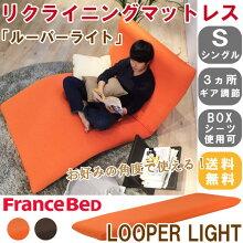 【送料無料】【日本製】フランスベッド3つ折りに折りたたみできるスプリングタイプマットレス「ラクネスーパー」(セミシングル)