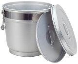 (送料無料)【給食・厨房用】段付二重保温食缶14LタイプMO-A【アルミ・バケツ】