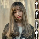 ウィッグ ロング フルウィッグ ミディアム グラデーション 自然 つけ毛 エクステ ウイッグ かつら wig セミロング コ…