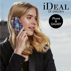 【送料無料】 スマホケース iPhone11 11Pro 11ProMax XS XR X XsMax 8Plus 7Plus 6sPlus 6Plus GALAXY S10 ハードケース MIDNIGHT BLUE MARBLE iDeal Of Sweden 携帯 スマートフォン おしゃれ ケース カバー アイフォン ギフト プチギフト