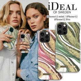 【送料無料】 スマホケース iPhone12 12mini 12Pro ハードケース COSMIC SWIRL GREEN PINK ピンク グリーン スワール 宇宙 渦 iDeal Of Sweden スマートフォン おしゃれ ファッション ケース カバー アイフォン ギフト