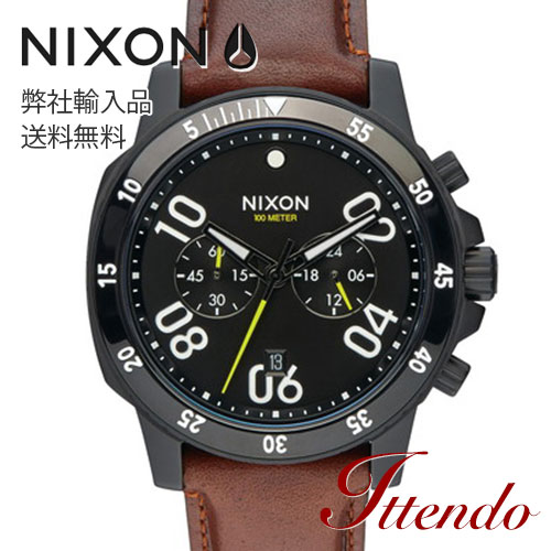 NIXON THE RANGER CHRONO LEATHER ニクソン レンジャークロノレザー A940-712-00