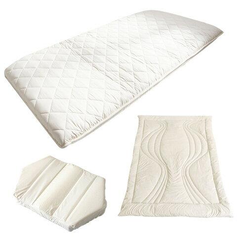 「雲のやすらぎプレミアム」敷布団(セミダブルサイズ)+六角脳枕+陽だまりの休息掛け布団の3点セット ※送料無料