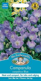 【輸入種子】Mr.Fothergill's SeedsCampanula carpatica Blueカンパニュラ(カンタベリー・ベルズ)・カルパティカ・ブルージョンソンズシード