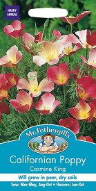 【輸入種子】Mr.Fothergill's SeedsCalifornian Poppy Carmine Kingカリフォルニア・ポピー カーマイン・キングミスター・フォザーギルズシード
