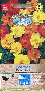 【輸入種子】Mr.Fothergill's Seeds rspb range Cosmos Polidor Mixed コスモス・ポリドール・ミックス ミスター・フォザーギルズシード