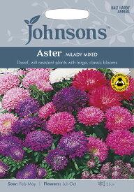 【輸入種子】Johnsons SeedsAster Milady Mixedアスター・ミレディ・ミックスジョンソンズシード