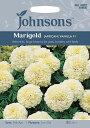 【輸入種子】Johnsons SeedsMarigold Vanillaマリーゴールド(アフリカン) バニラジョンソンズシード
