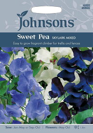 【輸入種子】Johnsons Seeds Sweet Pea SKYLARK MIXED スイートピー スカイラーク・ミックス ジョンソンズシード