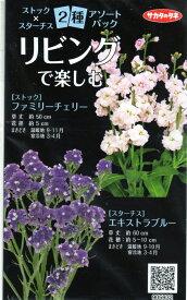 【種子】ストックxスターチス 2種アソートパックサカタのタネ