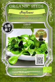 【有機種子】ひまわり(スプラウト)グリーンフィールドプロジェクトのタネ