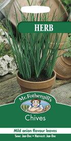 【輸入種子】Mr.Fothergill's SeedsHERB GARDENChivesチャイブミスター・フォザーギルズシード