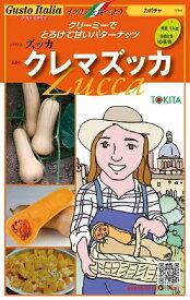 【種子】Gusto Italiaカボチャ ズッカクレマズッカ 100粒入トキタ種苗のタネ【お取り寄せ品】