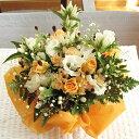 秋色アレンジメント(オレンジ&ホワイト系)☆3,780円コース