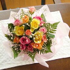 バラたっぷりのアレンジメント(花かご)バラ20本タイプ