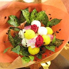 ころころピンポンマムの秋色花束