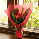 X'masに贈る☆バラとガーベラのミニ花束(赤系)クリスマス フラワー バラ ユリ フラワーギフト クリスマスプレゼント ギフト プレゼント