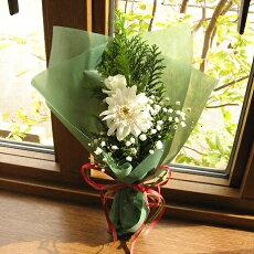 X'masに贈る☆バラとガーベラのミニ花束(白系)クリスマスフラワーバラユリフラワーギフトクリスマスプレゼントギフトプレゼント