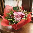 ≪送料込み≫クリスマスに贈るプレートピックのミニ・アレンジメント(花かご)