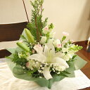 X'masに贈る☆清楚な白系アレンジメント(花かご)Type-Aクリスマス フラワー バラ ユリ フラワーギフト クリスマスプレゼント ギフト …