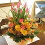チューリップのガーデン・アレンジメント(花かご)