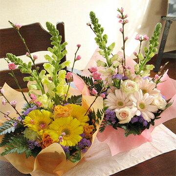 桃とキンギョソウのおひな祭りアレンジメント(お届け可能期間:2月16日〜3月3日)
