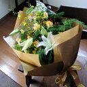 お誕生日に、フォーマルな贈り物に!オレンジシャンパン色の花束送料無料です。