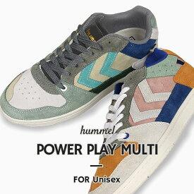 ヒュンメル hummel メンズ レディース スニーカー カジュアル シューズ 靴 ローカット POWER PLAY MULTI HM207160 3030 9094