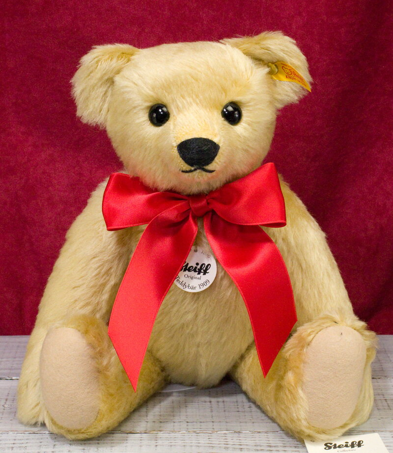 レプリカ1909・ゴールド 35cm ■黄色タグ(定番)■シュタイフ ぬいぐるみ プレゼント 誕生日 ギフト クリスマス