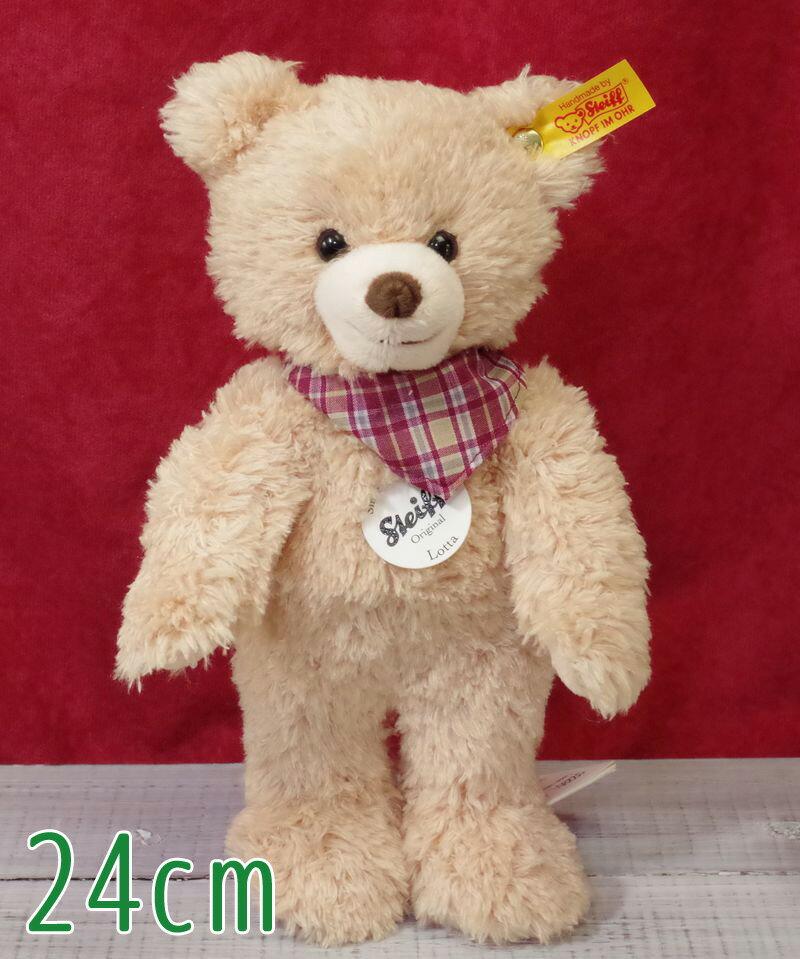 シュタイフ ロッタ テディベア 24cm Steiff Lotta Teddy Bear テディベア ぬいぐるみ プレゼント ふわふわ クリスマス