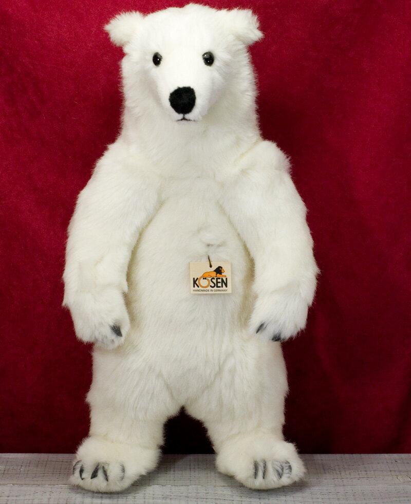 """白くま 白熊 シロクマ (立ち)(大) KOSEN(ケーセン社) 52cm 立ち""""Nanook"""" Polar Bear/クマ/くま/テディベア プレゼント/リアル/動物/ギフト/子供/女の子/男の子/大人/クリスマス"""