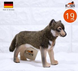 ケーセン ぬいぐるみ kosen ウルフ(狼) オオカミ 19cm イヌ・犬・いぬのぬいぐるみ リアル 動物
