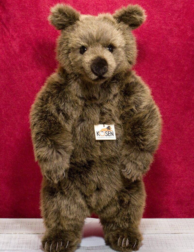 """ソフトブラウンベア(大) KOSEN(ケーセン社) 51cm Brown Bear """"Schlaffi""""/クマ/くま/テディベア プレゼント/リアル/動物/ギフト/子供/女の子/男の子/大人/クリスマス"""