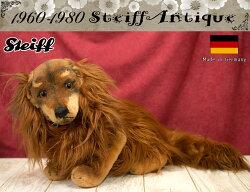 シュタイフSteiffアンティークテディベアwaldiロングヘアダックスフンド1968-1978年35cm
