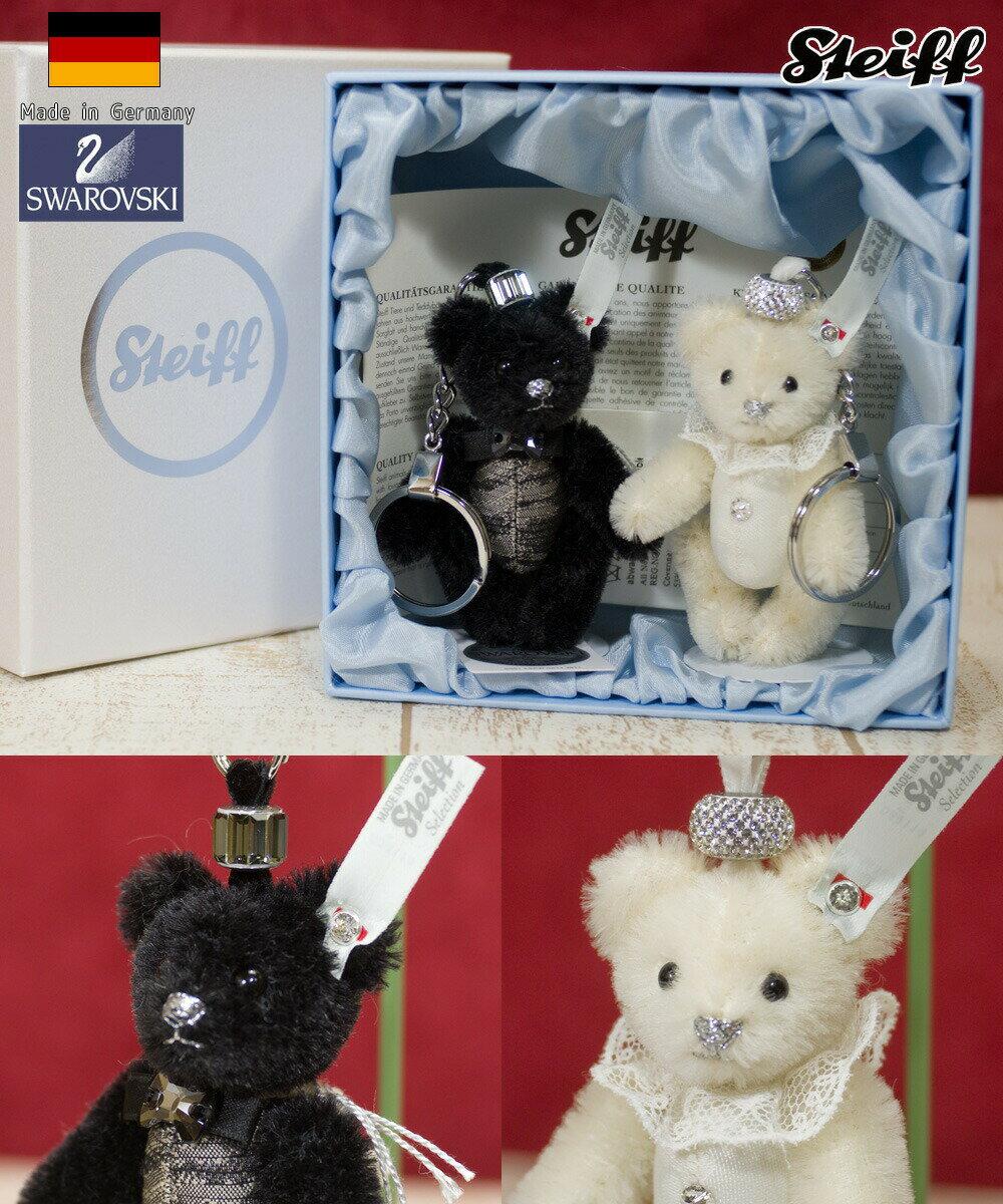 シュタイフ(steiff) ペンダント ウェディング テディベアセット Wedding Teddy Bear /プレゼント/ぬいぐるみ/クリスマス/