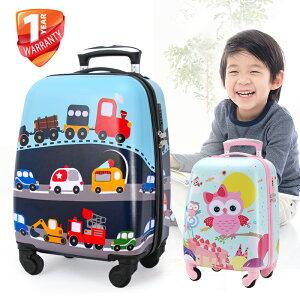 送料無料 子供 キャリーケース 機内持ち込み キャリーバッグ スーツケース かわいい 静音キャスター 四輪 軽量 ロック搭載 機内持込み アルミフレーム 旅行 小型 SSサイズ 2泊 動物柄 キッズ