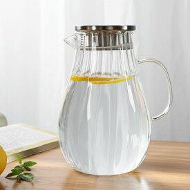 送料無料 IwaiLoft ピッチャー 冷水筒 耐熱ガラス 麦茶ポット ガラスポット ウォーターピッチャー ウォーターカラフェ クリア ジャグ フルーツポット ドリンクピッチャー ピクルスポット