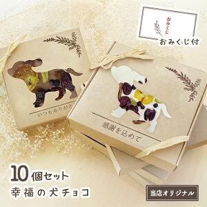 【ホワイトデーにおすすめ!】ドライフルーツ チョコレート 10個セット 幸福の犬チョコ 【バレンタイン 結婚式 ウェディング  職場 ママ友 プチギフト プレゼント ホワイトデー あり
