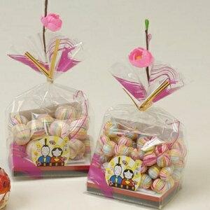 ひな祭り ひなまつり お菓子 プチギフト 錦玉 かわいい 京あめ ギフト 造花付き