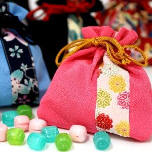 母の日ギフト 母の日 プレゼント スイーツ 和菓子 ちりめん巾着〜ほのか〜(レビュー書き込みで次回あめプレゼント)