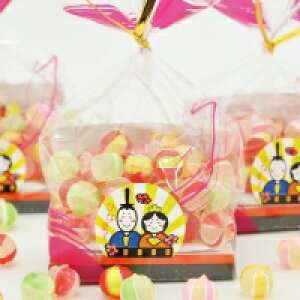 ひな祭り ひなまつり お菓子 プチギフト 風船玉 かわいい 京あめ 造花付き