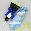 父の日ギフト 父の日 プレゼント スイーツ お菓子 キャンディーブーケハンカチ包みセット【送料無料】☆レビュー書き…