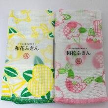 花ふきん(桜と橘)