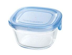 【メーカー公式】作り置きにぴったり iwaki(イワキ) NEWパック&レンジ(アクアブルー) 【容量】200ml耐熱ガラス ガラス 保存容器 常備菜 つくおき 作り置き 浅い もちより